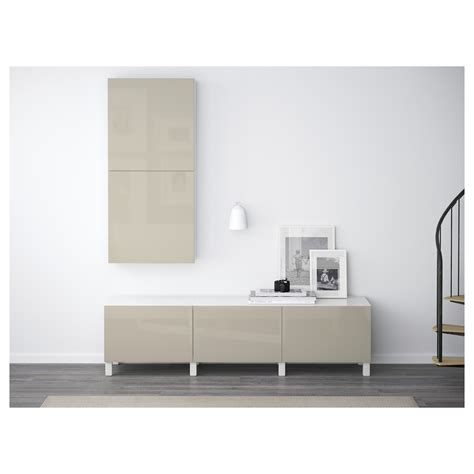 ikea besta cupboard best 197 wall cabinet with 2 doors white selsviken high gloss