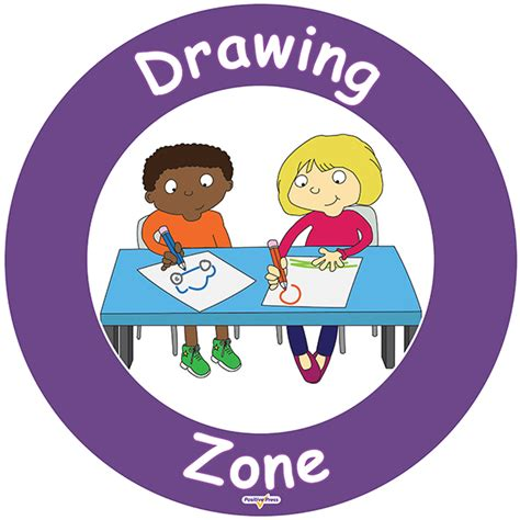 Drawing Zone by Mosley S Playground Zone Signs Drawing Zone
