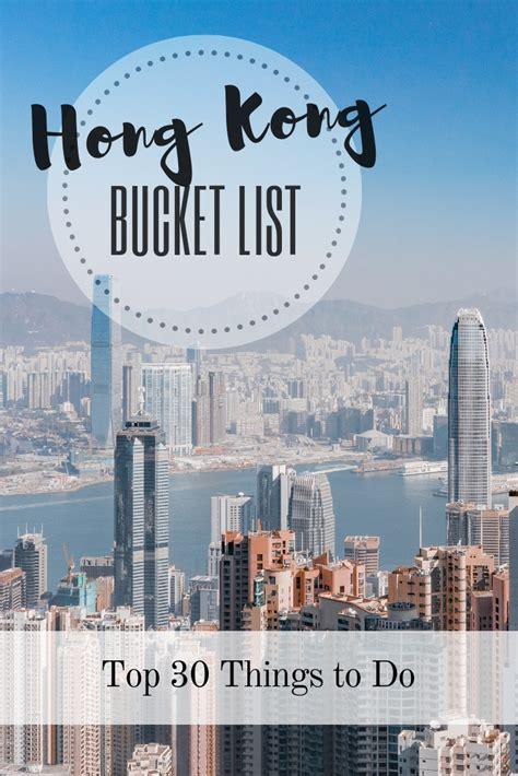 hong kong bucket list      top places