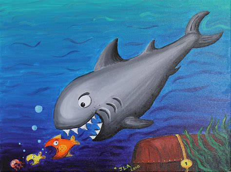 shark painting shark painting by alvarez