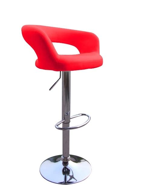 designer bar stool bright red curvy mars style designer bar stool modern