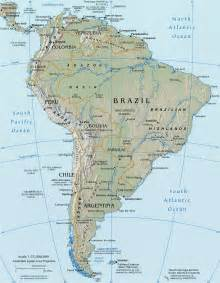 south america river map south america map