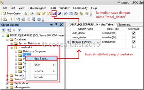 membuat database sederhana dengan xp membuat database rumahsakit sederhana gui baca coding