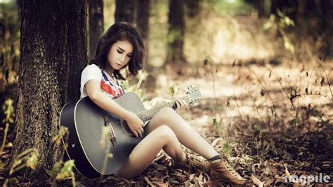 girl s girls beautiful girls girl with guitar 081077 wallpaper