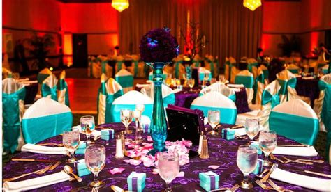 purple and turquoise wedding reception turquoise and purple wedding the florist delivered the