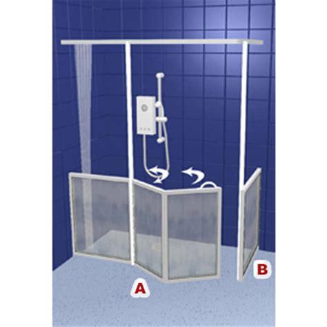 Half Height Shower Doors Contour Front Access With Return Panel Wf33 White Half Height Shower Doors Screens