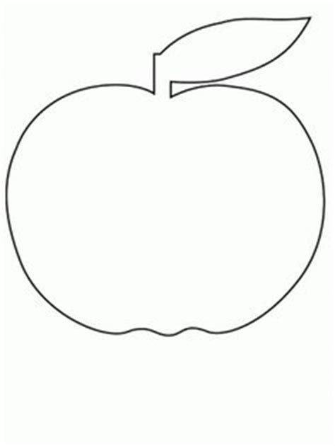 apple shape coloring page apple with a worm paper craft black and white template