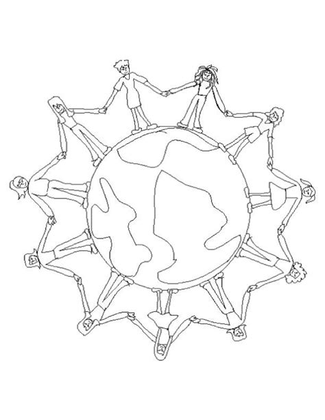 Children Around The World Coloring Page Coloring Home Coloring Pages Around The World