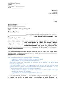 Modele De Lettre Pour Expertise Medicale