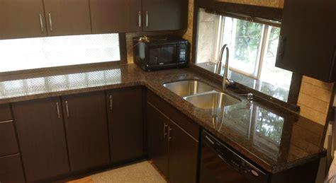 Marble Tile Kitchen Backsplash coffee brown granite flat eased edge profile northern