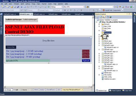 tutorial asp net web forms asp net 4 tutorials how to use asp net ajaxfileuploade