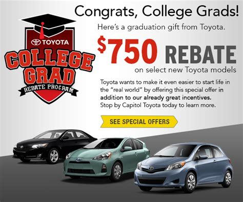 Capitol Toyota Salem Oregon Capitol Toyota College Rebate Finance Program Salem