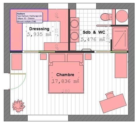 plan chambre avec dressing plan chambre parentale 15m2 inspiration de d 233 coration
