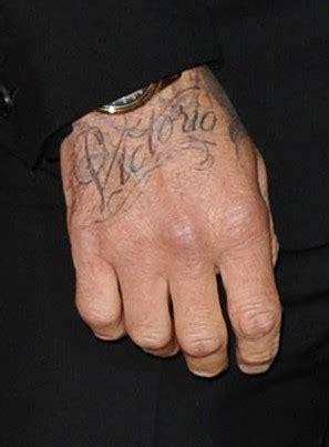 name tattoo generator on hand london fashion week david beckham reveals victoria