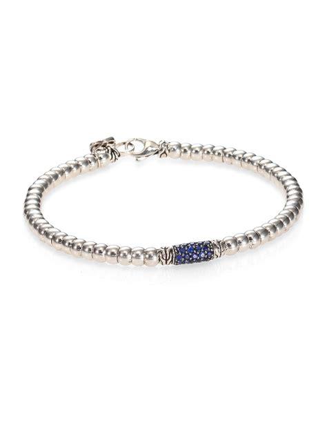 John hardy 40th Anniversary Classic Chain Lava Slim Bracelet W/ Blue Sapphires in Blue   Lyst