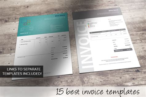 modern sle of invoice template mock up for professional