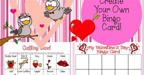 design your own valentines card freebie create your own s day bingo card for