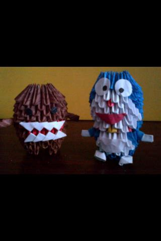 Doraemon 3d Origami - 3d origami domo and doraemon by luvyen101 on deviantart