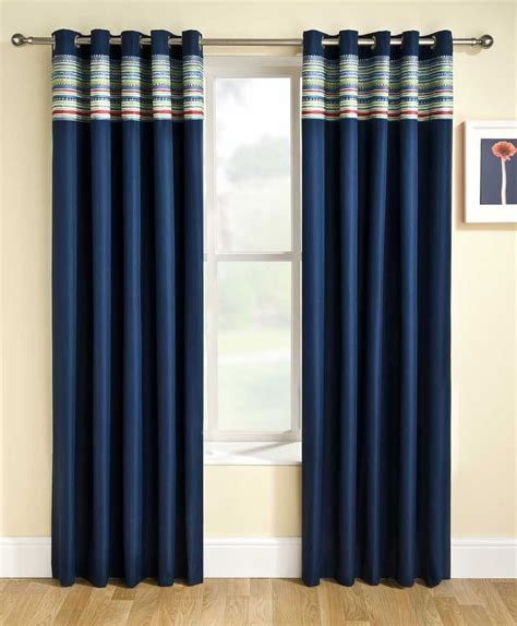 fashionable and stylish navy curtains drapery room ideas