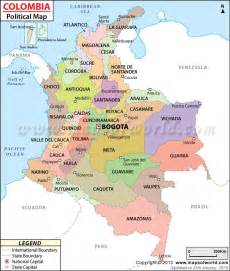 political map of colombia armenia colombia