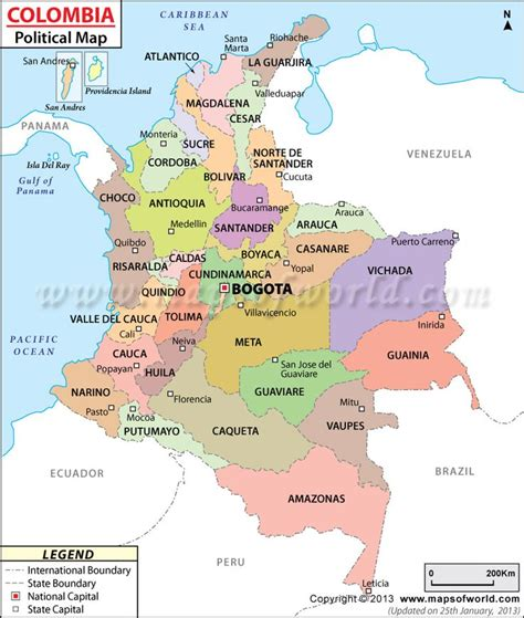 south america map colombia political map of colombia armenia colombia