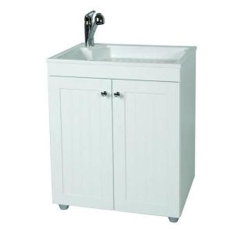 Laundry Sink Cabinet Home Depot by Glacier Bay All In One 27 5 In W X 21 8 In D Composite
