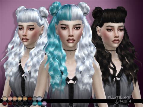 sims 4 half have hair leah lillith s leahlillith melanie hair
