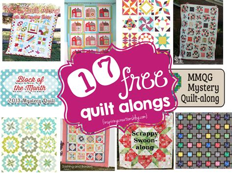 Quilt Along by Inspiring Creations 17 Free Quilt Alongs