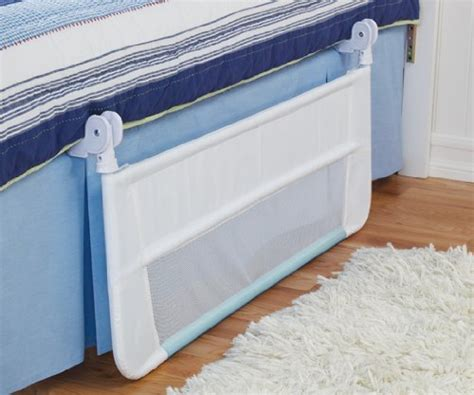 munchkin safety toddler bed rail white blue discontinued
