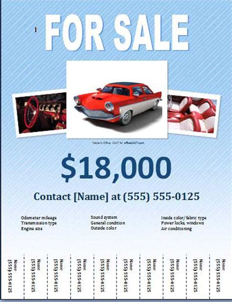 free car for sale flyer templates free online flyers