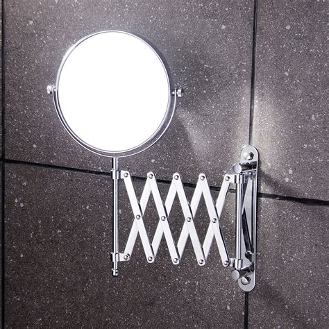 retractable mirror bathroom 8 inch bathroom makeup mirror brass bathroom double faced