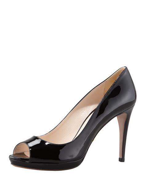 Fendi Led Shoes prada patent peep toe black
