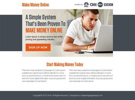 Proven Ways To Make Money Online - 20 best pay per view and pay per click landing page design 2016
