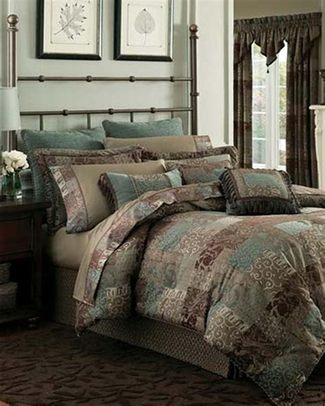 Croscill Townhouse Comforter by Galleria Brown Patchwork Bedding Ensemble By Croscill Townhouse Linens