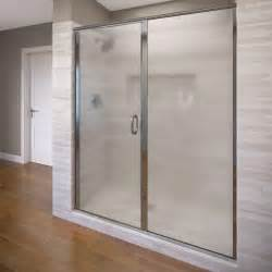 Bosco Shower Doors Basco Infinity 58 1 2 In X 70 In Clear Semi Framed Bypass Shower Door In Silver 4500 60cl