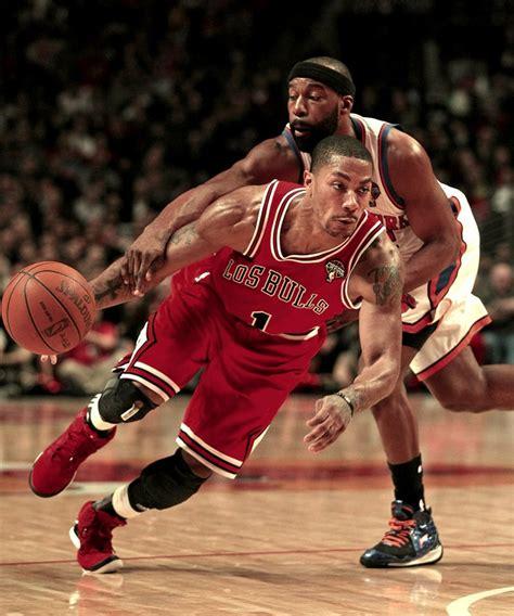 derrick rose chicago tattoo tattoos sports adidas jersey nba basketball headbands