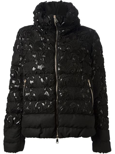Applique Padded Jacket moncler solaris appliqu 233 padded jacket in black lyst
