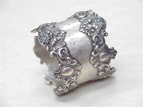 nouveau napkin ring sterling silver from