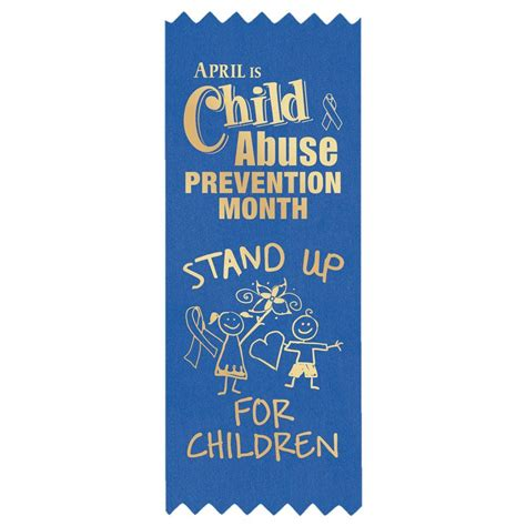 stand   children blue satin  stick ribbons positive promotions