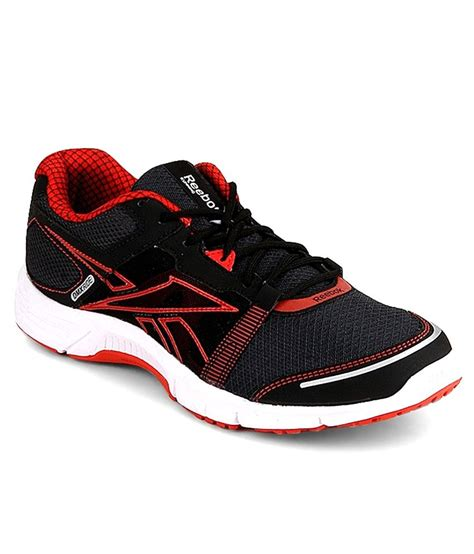reebok black running shoes reebok black synthetic leather running sports shoes price