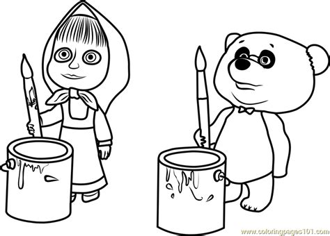 coloring pages masha and bear masha and panda coloring page free masha and the bear