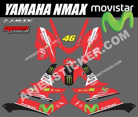 Terbaru Sticker Striping Motor Stiker Yamaha Nmax Green Thunder Monst 70 modifikasi stiker motor yamaha nmax modifikasi yamah nmax