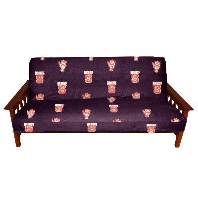 college futon north carolina state futon cover 1