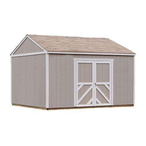 Home Depot Wooden Sheds by Handy Home Products Columbia 12 Ft X 16 Ft Wood Storage