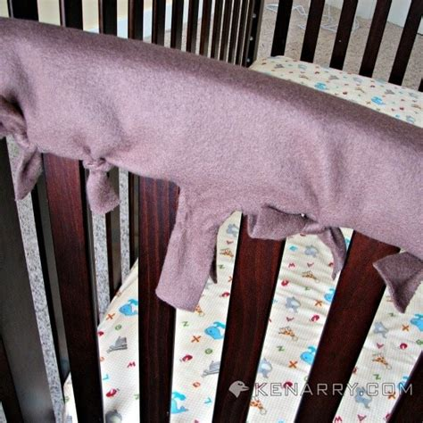 Diy Crib Protector by Crib Rail Cover Easy Idea With No Sewing Required
