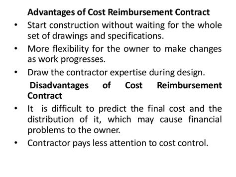 design and build contract advantages and disadvantages types of contracts