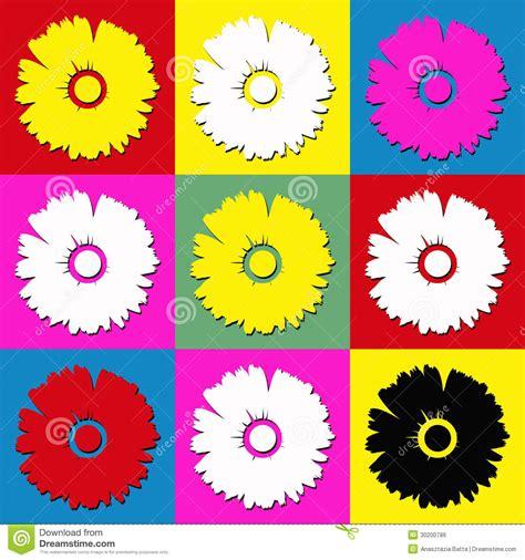 arte fiori fiori della margherita immagine stock libera da diritti