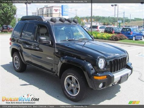 jeep renegade 2004 2004 jeep liberty renegade 4x4 black clearcoat taupe