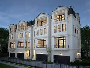four homes four 4 story townhomes in houston by wood assoc
