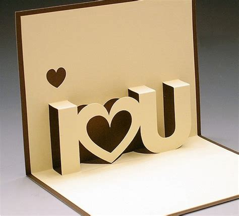 3d Card Templates 3d valentine s day card printable printables 4